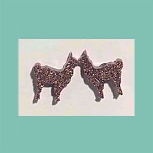 Jewelry - COMING SOON! Brown Sparkly Llama Stud Earrings